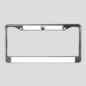 Bear Paw Rainglow License Plate Frame