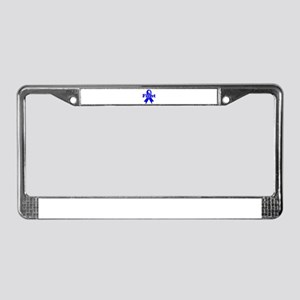 Blue Ribbon Fight License Plate Frame