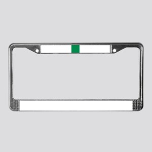 Green solid color License Plate Frame