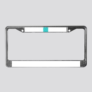 Turquoise Pawprint pattern License Plate Frame
