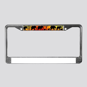 Elephant Crossing License Plate Frame