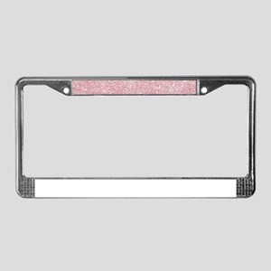 Rose-gold faux glitter License Plate Frame