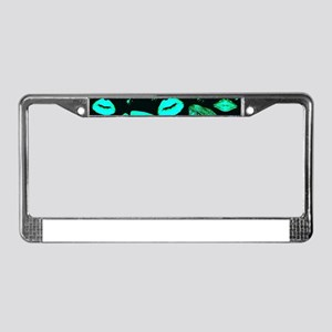 Kisses All Over (Green) License Plate Frame