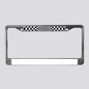 Optical Checks License Plate Frame