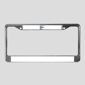 swim License Plate Frame