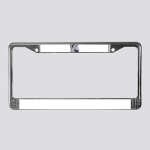 White/Black/Pink Abstract License Plate Frame