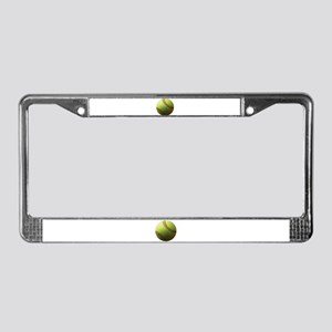 Yellow Softball License Plate Frame