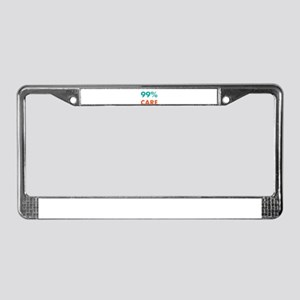 99% Don't Care Funny Sarca License Plate Frame