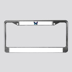 Galactic Butterfly License Plate Frame