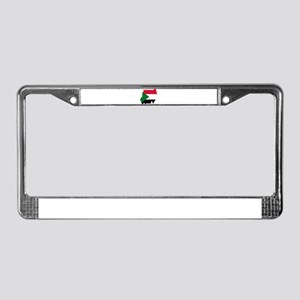 Sudan Flag and Map License Plate Frame