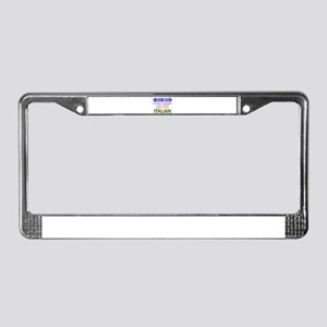 Fat Italian designs License Plate Frame