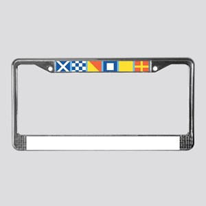 Nautical Flags License Plate Frame