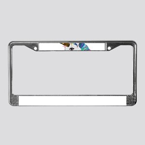 glitter unicorn License Plate Frame