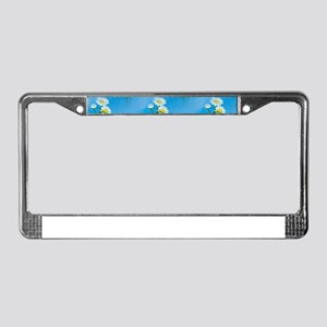 blue daisies License Plate Frame