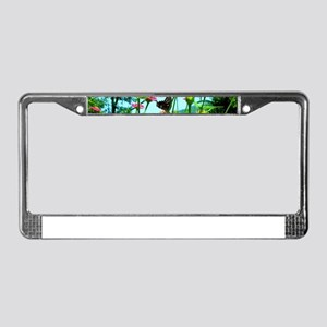 Black Swallowtail Butterfly License Plate Frame