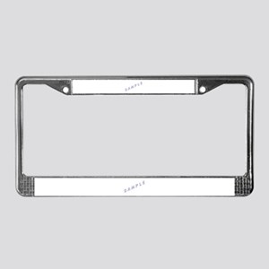 A Sample License Plate Frame