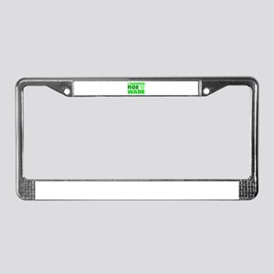 Anti-abortion License Plate Frame