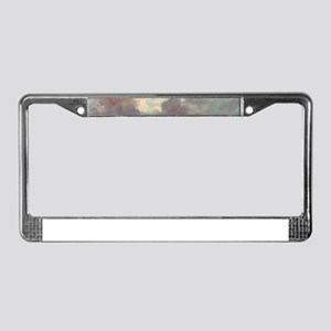 A Cloud Study Stormy Sunset by License Plate Frame