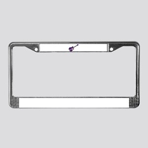 Purple Guitar License Plate Frame