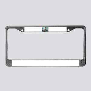 African, woman, art, License Plate Frame