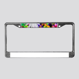 happy birthday daisy plur License Plate Frame