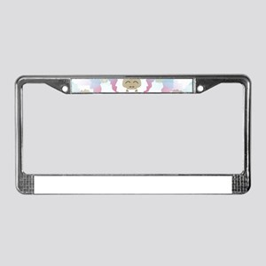 pink yeti License Plate Frame