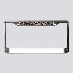 cheetah leopard print License Plate Frame