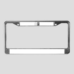A Mans Character License Plate Frame