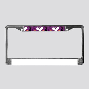 Halloween Pattern License Plate Frame
