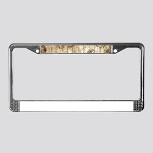 Shabby Chic Country Floral Peo License Plate Frame