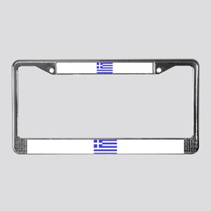 Flag of Greece License Plate Frame