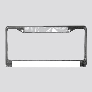 Silk Background License Plate Frame
