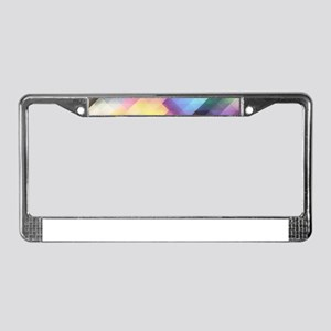 Abstract Colorful Decorative S License Plate Frame