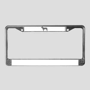 Curly-Coated Retriever License Plate Frame