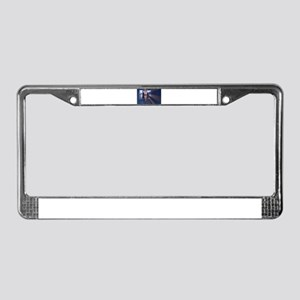 Slim young lady in hotel corri License Plate Frame