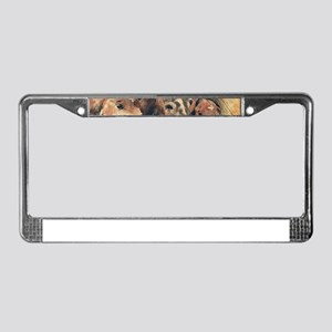Horses Artistic Watercolor Pai License Plate Frame