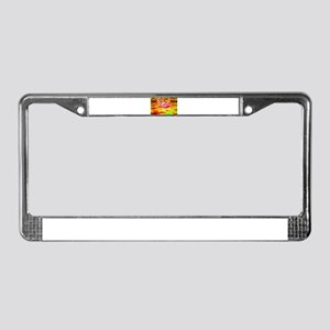 Woman-fire License Plate Frame