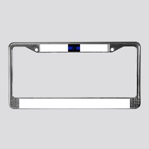 Thin Blue Line - Texas License Plate Frame
