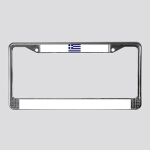 Greece Flag License Plate Frame
