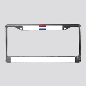 Holland Flag License Plate Frame