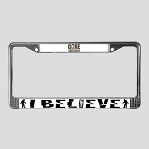 Gone sqautchin Br License Plate Frame