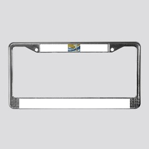 Yorkie Yorkshire Terrier Surfi License Plate Frame