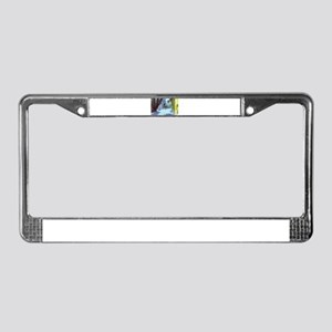 scenic ghost town travel stree License Plate Frame