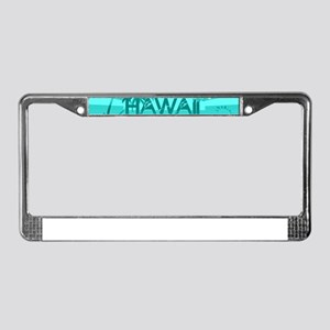 Hawaii Emerald sun fish ocean License Plate Frame