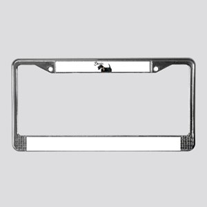Scottish Terrier Gothic License Plate Frame
