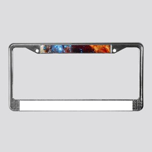 Orange Nebula License Plate Frame