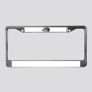 Hedgehog Antique Engraving License Plate Frame
