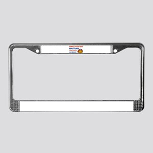 Haitian smiley designs License Plate Frame