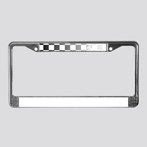 Chequered Flag Grunge License Plate Frame