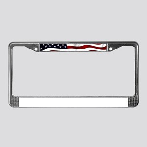 American Flag USA License Plate Frame